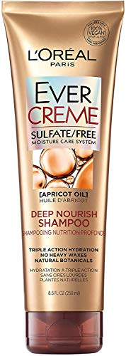 L'Oreal Paris EverCreme Sulfate Free Deep Nourish Shampoo, 8.5 Fl. Oz (Pack of 1)