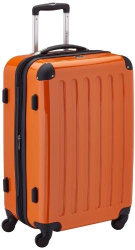 HAUPTSTADTKOFFER - Alex - Hartschalen-Koffer Koffer Trolley Rollkoffer Reisekoffer Erweiterbar, 4 Rollen, TSA, 65 cm, 74 Liter, Orange