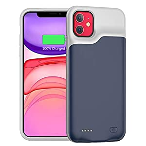 Battery Case For Iphone 11 6000mah Portable Protective Charging Case Compatible With Iphone 11 61 Inch Rechargeable Extended Battery Charger Case Blue