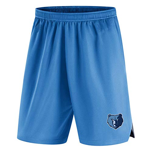 LUOP Grizzlies Men Adult Basketball Shorts - Schnelltrocknende Laufshorts Fitness Outdoor Active Training Sportshorts (mit Taschen) M L XL Blue Geschenk-XXL
