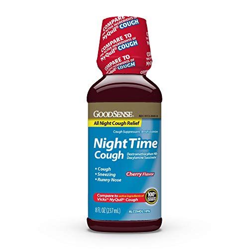 GoodSense Nighttime Cough Syrup for Cough Relief, 8 Fluid Ounce