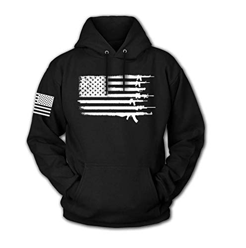 Tactical Pro Supply USA Sweatshirt Hoodie - American Flag Patriotic Jacket Sweater for Men or Women - Arsenal Flag, Large