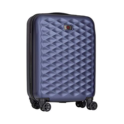 Wenger 605728 LUMEN HARDSIDE 20' Carry On Cabin Luggage, 4 Easy Rolling Dual-caster Wheels with a TSA Approved Combination Lock in Blue {32 Litres}