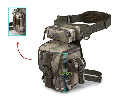 41sAZ6sgq L - Jueachy Riñoneras de Marcha Unisex, Bolsa de Cintura Multifuncional para la Pierna táctica Militar para Pesca para…