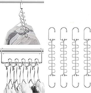 Aptech Magic Cloth Hanger Space Saving Hangers Metal Closet Organizer for Closet Wardrobe Closet Organization Closet Syste...