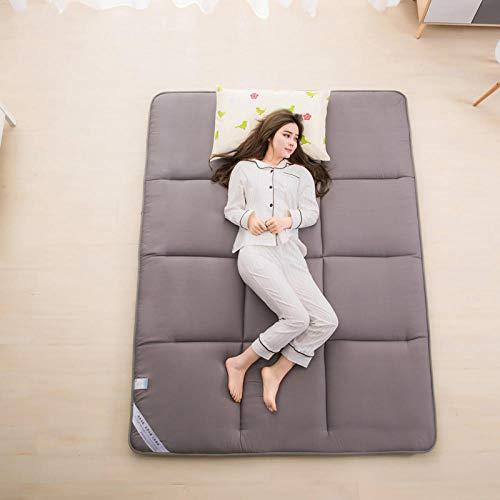 zlzty Colchón Plegable Doble, colchón de Tatami, colchón Plegable para Dormitorio de Estudiantes, cojín Grueso y Multifuncional para Dormitorio, Camping @ F_100 * 200 cm