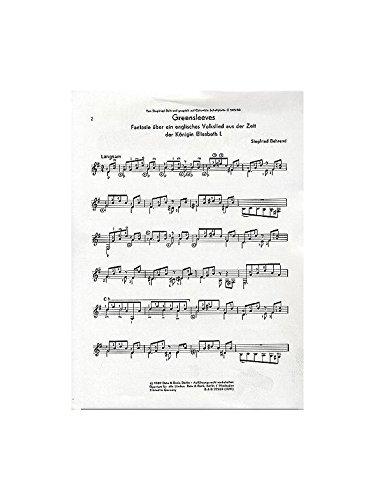 Greensleeves: Fantasie über ein englisches Volkslied aud der Zeit der Königin Elisabeth I.. Gitarre. (Gitarre-Bibliothek)