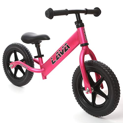 LAVA SPORT Balance Bike - Ultra Lightweight Aluminum - for Toddlers and Kids 2, 3, 4 Year Old (Hot Pink)