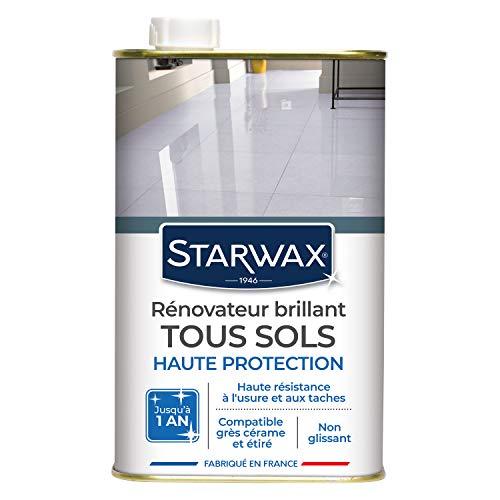 STARWAX Rénovateur Brillant Protecteur pour Sols Intérieurs - 1L - Idéal pour Protéger et Faire Briller Tous les Sols