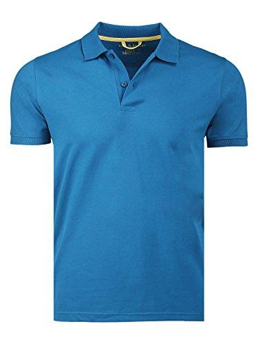 Marquis de hombre Solid Jersey Polo - Azul -