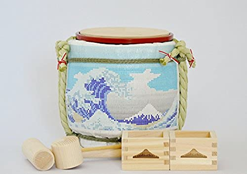 Komodaru Mini Sake-Barrel Set Tegular Mount Fuji-tairu Fuji
