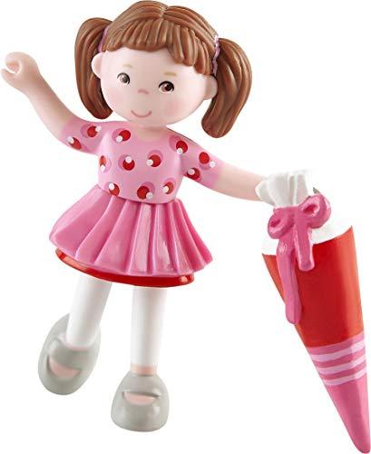 HABA 304746 - Little Friends – Ariane, Minipuppe ab 3 Jahren, mit Schultüte, strapazierfähige Biegepuppe aus Kunststoff für lange Spielfreude