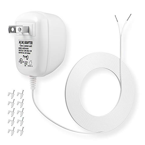 24 Volt C-Wire Power Adapter/Transformer for Ecobee Nest Honeywell Smart Wifi Thermostat and Ring Doorbell by Fyve Global   25 ft Cable