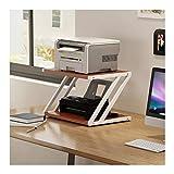 Soportes para Impresoras Impresora multifunción de sobremesa Soportes de almacenamiento en rack Organizador de escritorio for la impresora copiadora de microonda plantas en maceta, 2-Tier Soportes de