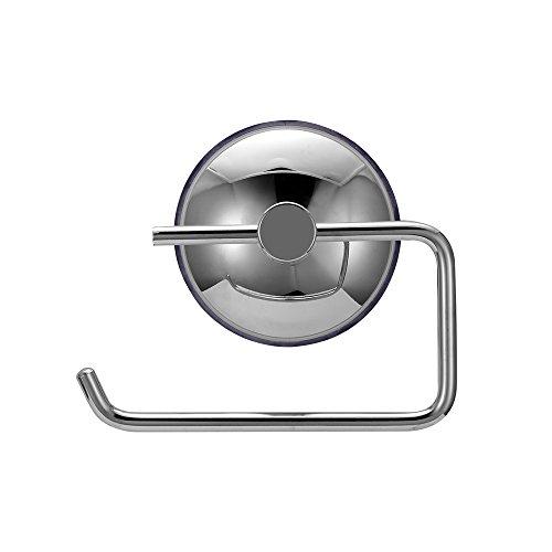Edelstahl Klopapierhalter, SUNJULY Leistungsstarker Toilettenpapierhalter mit Saugnapf zur Wandmontage für die Toilette im Bad
