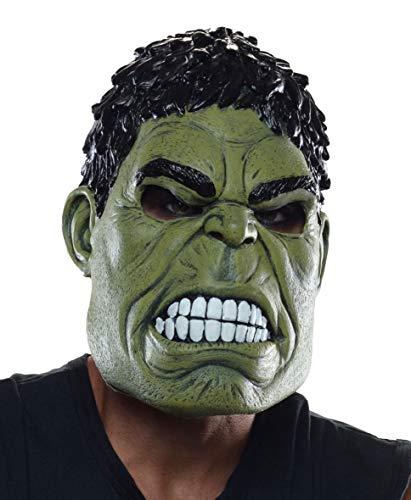 Rubie's Costume Co – Máscara de los Vengadores de 2 años de Ultron Hulk para Adulto 3/4, Verde, Talla…