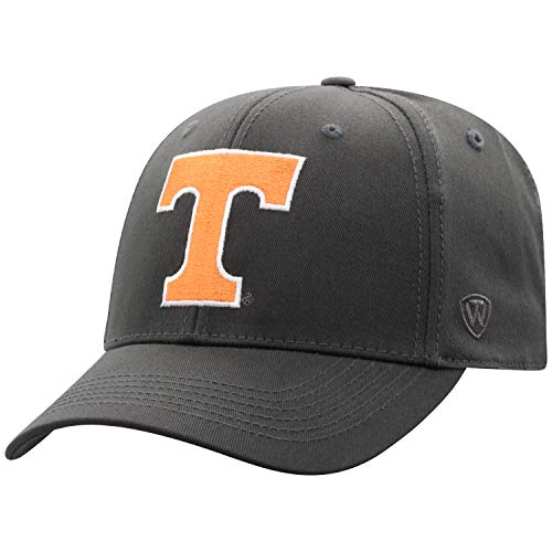 Top of the World Herren Mütze NCAA Fitted Charcoal Icon, Herren, NCAA Men's Fitted Hat Relaxed Fit Charcoal Icon, Tennessee Volunteers Anthrazit, Einheitsgröße