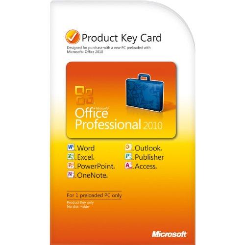MS Office 2010 PRO PC Attach Key PKC (IT) [import allemand]