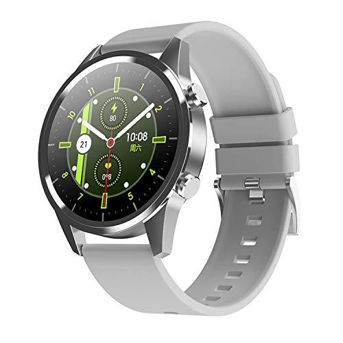 TYOP Reloj inteligente, pantalla de 1.28 pulgadas, rastreador de fitness, pulsera de podómetro de deportes, dial personalizado, llamada de Bluetooth, mensaje de mensaje, recordatorio inteligente, IP67