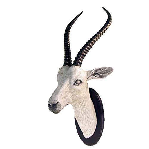 YUMUO Decoración de pared de cabeza de oveja, escultura de cabeza de carnero, arte de pared para colgar en la pared, decoración retro para el hogar de la estatua de cabeza de animal