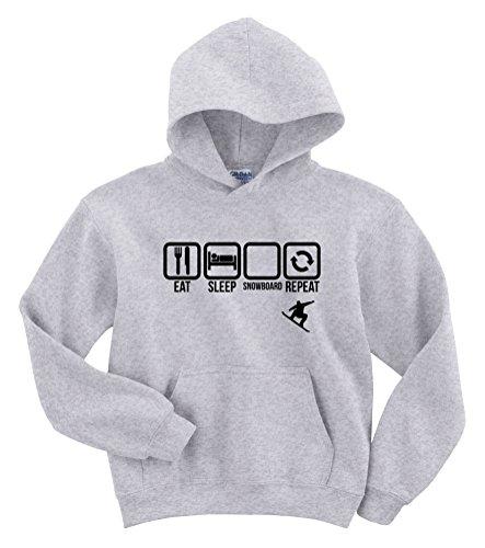 Eet Slaap Snowboard Herhaal Grappige Hoodie Sweater [Kies Maat & Kleur]