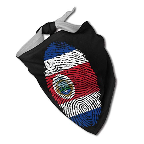 XZ-Sky Costa-Rica-DNA Collares de Bandana para Perros con Huellas Dactilares Pañuelo Triangular Baberos Bufanda Accesorios Gatos para Mascotas
