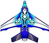 cometas para niños cometa infantil Enorme cometa de avión de combate para niños y adultos, fácil de volar, cometas para principiantes para niños de 4 a 8 años, línea de kit incluida, azul / roj