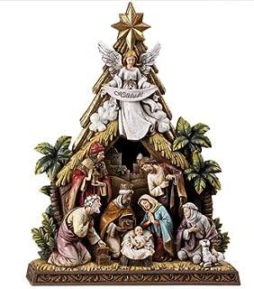 Catholic Gifts Story of Christmas Holy Family 10.5 Inch Nativity Scene