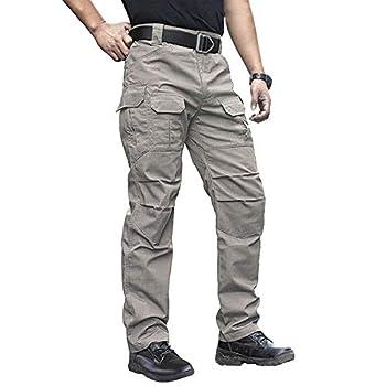 NAVEKULL Men s Outdoor Tactical Pants Rip Stop Lightweight Waterproof Military Combat Cargo Work Hiking Pants Khaki