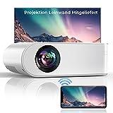 YABER WiFi 7000 Lumen Mini Beamer 1080P Full HD Tragbar Video Beamer [Beamer leinwand einschließen] mit 250' Display Heimkino Beamer, Kompatibel mit IOS/Android/TV Stick/PS5 Projektor