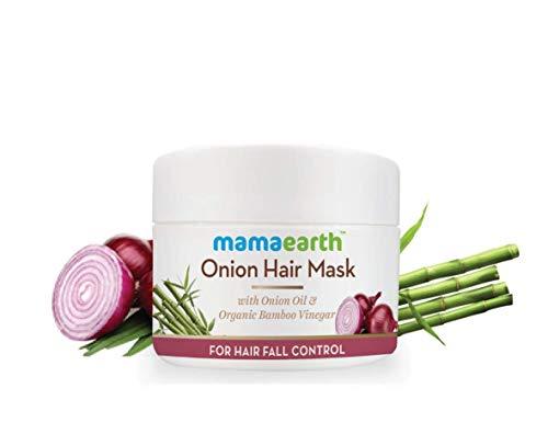 Mamaearth's Onion Hair Mask for Hairfall Control with Organic Bamboo Vinegar 200ml