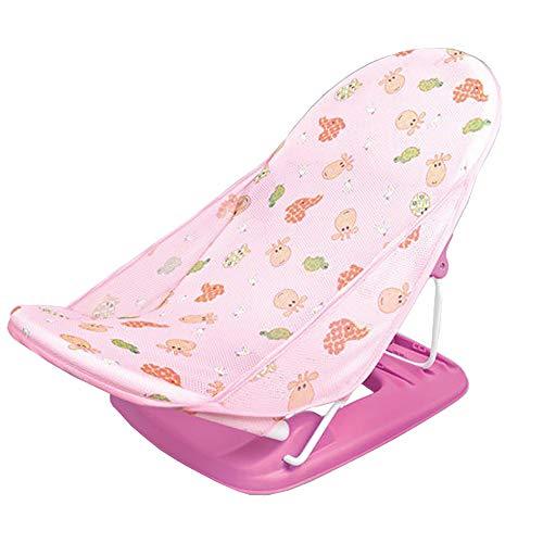 MARXIAO Klappbarer Babywannennetz-Badestuhl, Tragbarer Baby-Duschstuhl Cartoon Rutschfester Kinderbadestuhl,B