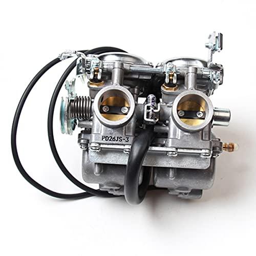 Carburador Dúplex Cilindros Twin Cilinders Carburetor Assy Set Cámara Reemplazo automotriz Carburadores para 250 CBT250 CA250 300cc Moto Scooter Accesorios de Auto