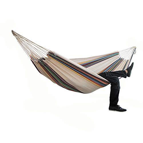Gifftiy Amacas Para Patios Hanmock 2-Person Hangmat Camping Dikke Swinging Stoel Buiten Hangend Bed Canvas Schommelstoel Niet Met Hangmat Stand 200 * 150Cm A
