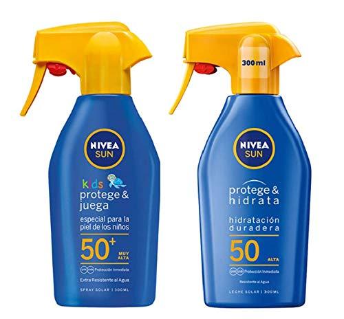 NIVEA SUN Spray Solar Niños FP50 + Protege & Hidrata Spray Solar FP50