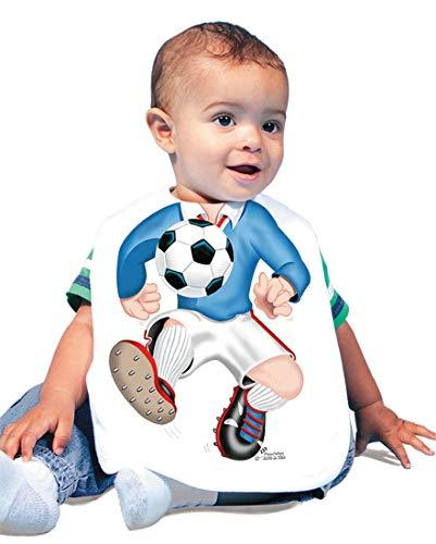Just Add A Kid Baby Boy's Soccer Boy 233 Baby Bib 0-6 Months White