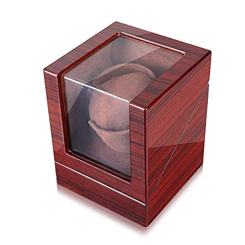 LULUTING Reloj automático Winder A la 1 de la Tarde, Silencioso Motor Relojes mecánicos de rotación de la Caja de Almacenamiento Watch Winder Madera