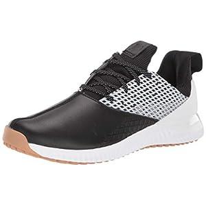 adidas Men's Adicross Bounce 2 Golf Shoe, core Black/Dark Silver Metallic/White, 10 Medium US