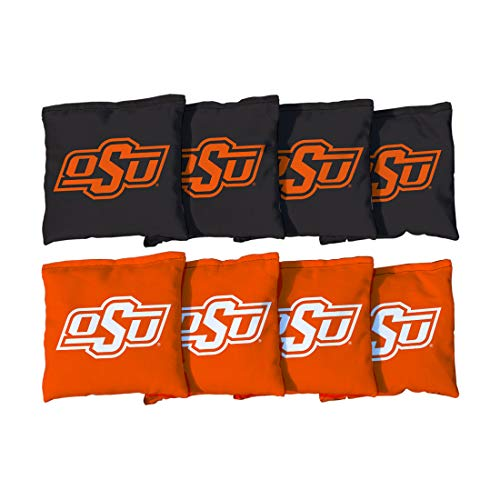 Victory Tailgate NCAA Collegiate Regulation Cornhole Game Bag Set (8 Bags Included, Corn-Filled) - Oklahoma State University Cowboys