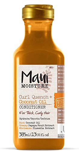 Maui Moisture, Acondicionador de Aceite de Coco para pelos Rizados, Define los Rizos, 385 ml