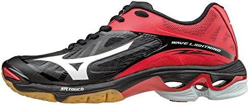 Mizuno Women s Wave Lightning Z2 Volleyball Shoes Black Red Women s Size 13 product image