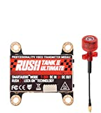 Transmisor de vídeo FPV VTX Rush Tank II 5,8 GHz FPV con frecuencia de audio externa de 48 y audio inteligente TBS en modo de pit conmutable con antena RUSH Cherry FPV para dron de carreras FPV