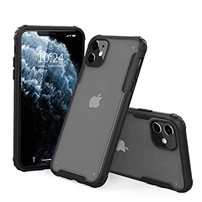 "I STRIVE Heavy Duty Military Grade iPhone 11 Case -Matte Translucent - Phone Armor - Shock/Shatterproof - Slim - Hybrid Materials - Wireless Charging - Compatible with iPhone 11 6.1"" (Black)"