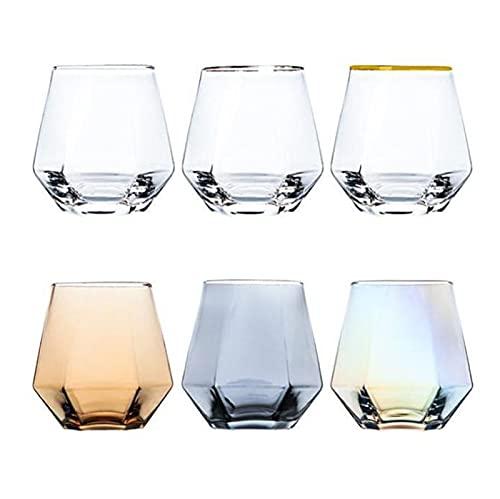 YDZB 6 vasos de whisky sin plomo, vasos transparentes de cristal, 300...