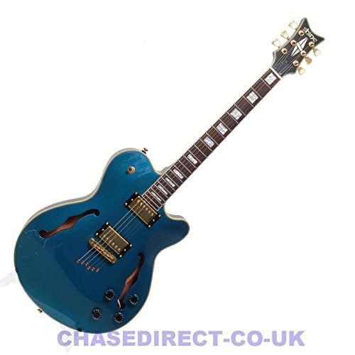 Shine by Chase Semi Acoustic Hollow Body Electric Guitar SI-841F MB F Hole 335