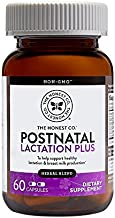 The Honest Company Postnatal Lactation Plus Multivitamin   Lactation Supplement with Milk Thistle & Fenugreek   Breastfeeding Supplement   Organic Postnatal Vitamins   Easy to Swallow   60 Count