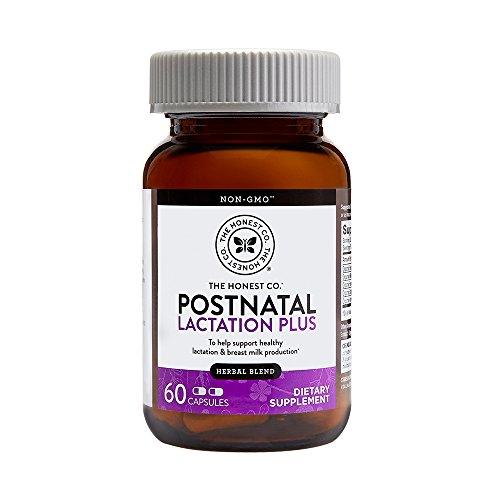 The Honest Company Postnatal Lactation Plus Multivitamin | Lactation Supplement with Milk Thistle & Fenugreek | Breastfeeding Supplement | Organic Postnatal Vitamins | Easy to Swallow | 60 Count