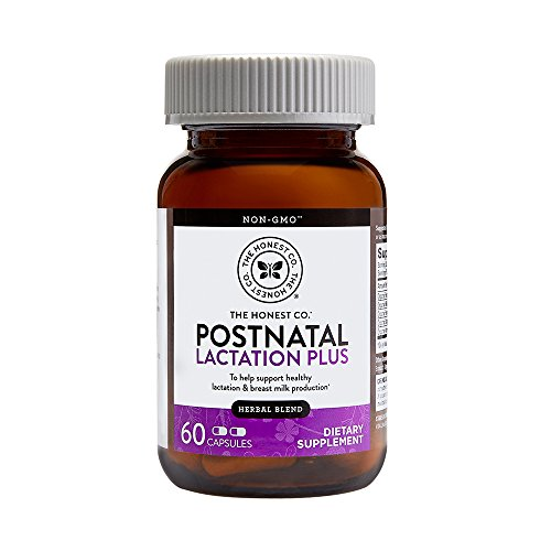 The Honest Company Postnatal Lactation Plus Multivitamin | Lactation Supplement with Milk Thistle & Fenugreek | Breastfeeding Supplement | Organic Postnatal Vitamins | Easy to Swallow | 60 Count