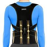 Back Brace Posture Corrector For Women and Men Upper Back Support Straightener Belt For Neck,Shoulder,Back Pain Relief and Improve Bad Posture Lumbar Adjustable & Breathable (XL:39