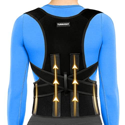 Back Brace Posture Corrector For Women and Men - Upper Back Straightener Posture Corrector Support - Neck,Shoulder,Back Pain Relief and Improve Posture - Lumbar Adjustable & Breathable(L:35'-39')